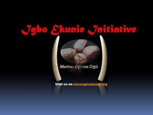 Igbo Ekunie Initiative's Logo