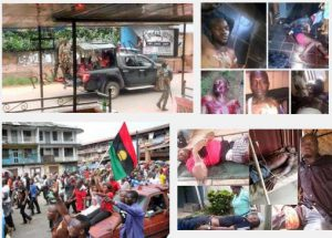 Bodies IPOB members killed by the Nigeria Security forces